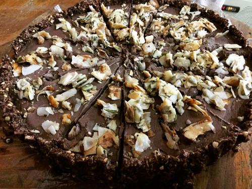 Raw Nut Free Chocolate Pie Vegan (Gluten Free) Organic ingr - per slice