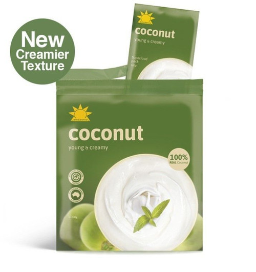 Coconut 100% Smoothie Frozen Pack 4 x 100g - Amazonia