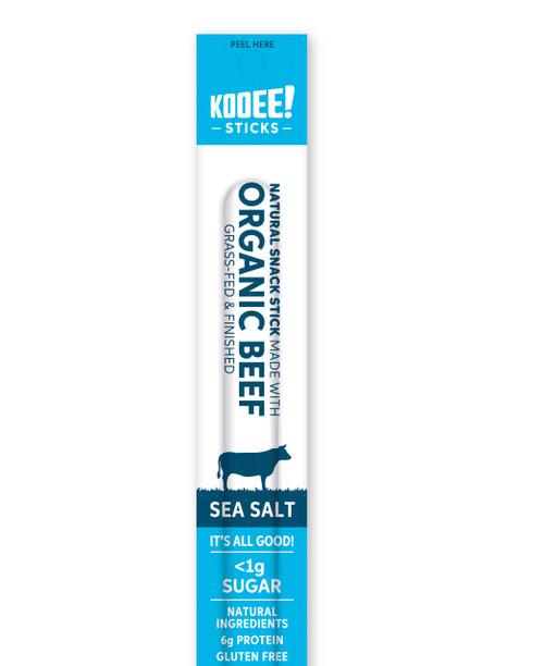 Beef Snack Stick Sea Salt Organic 25g - Kooee