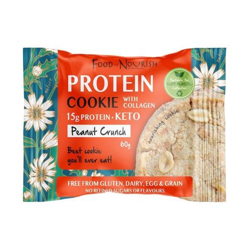 Protein Cookie Peanut Crunch 60g - Food To Nourish