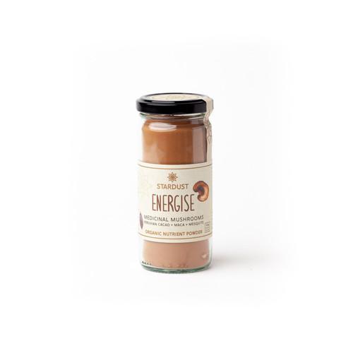 Stardust Brown Energise Maca Cacao Mushroom Blend Organic 120g - Mindful Foods