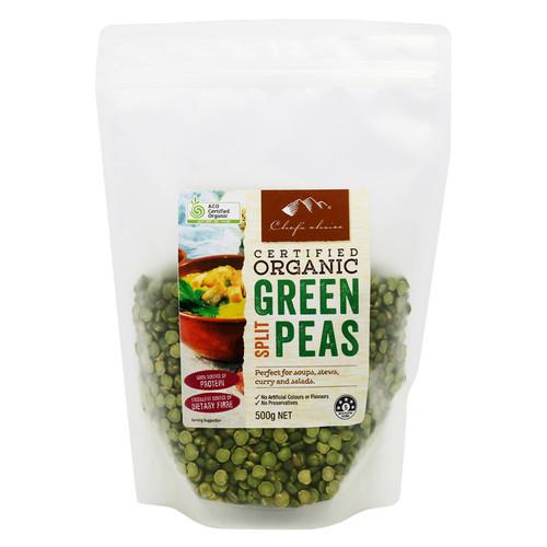 Peas Green Split Organic 500g - Chef's Choice