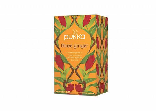 Three Ginger Organic Tea 20 Bags - Pukka
