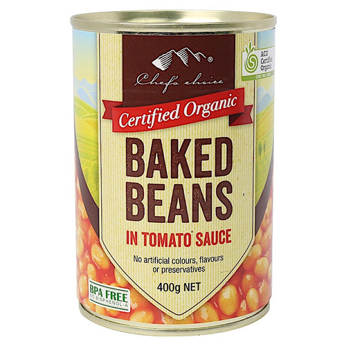 Baked Beans in Tomato Sauce Organic 400g - Chef's Choice