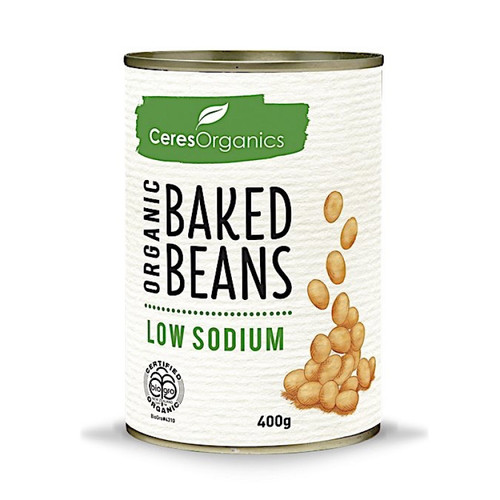 Baked Beans Low Sodium Organic 400g - Ceres
