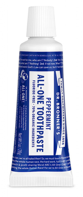 Toothpaste Peppermint Travel Size 28g - Dr Bronners