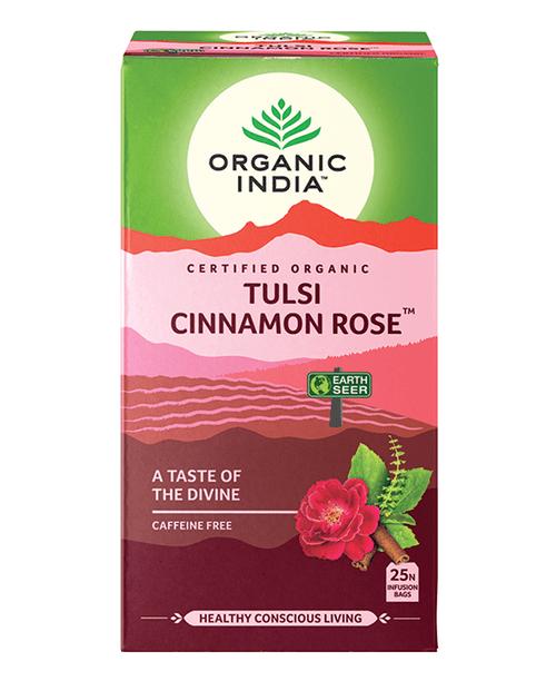 Tulsi Cinnamon Rose Tea Organic 25 Bags - Organic India