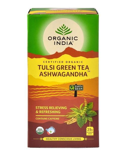 Tulsi Green Tea Ashwagandha Organic 25 Bags - Organic India