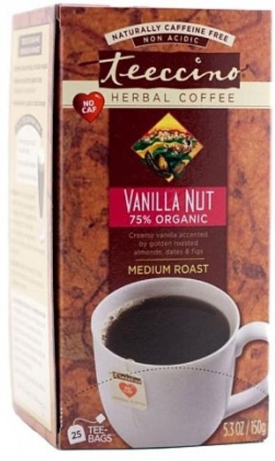 Herbal Coffee/Tea Vanilla Nut 25 Bags (Big Box) - Teeccino