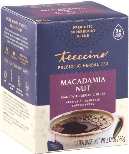 Herbal Coffee/Tea Macadamia Nut Prebiotic 10 Bags - Teeccino