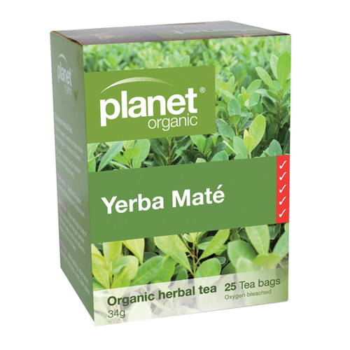 Yerba Mate Tea Organic 25 Bags - Planet Organic