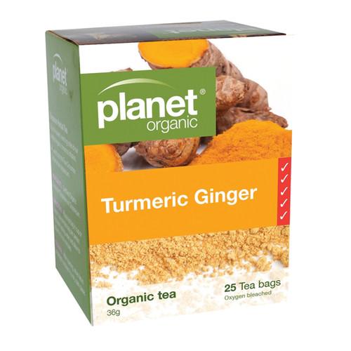 Turmeric Ginger Tea 25 Bags - Planet Organic