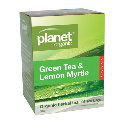 Green Tea Lemon Myrtle Tea Organic 25 Bags - Planet Organic