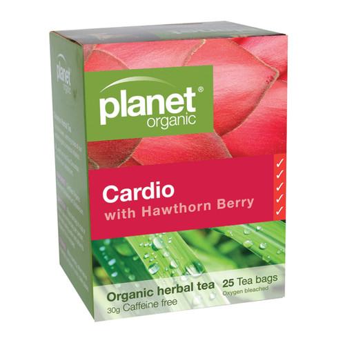 Cardio with Hawthorn Berry Herbal Tea Organic 25 Bags - Planet Organic