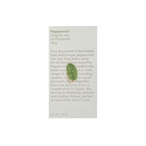 Peppermint Tea 20 Pyramid Bags  Organic - Love Tea