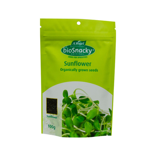 Sunflower Seeds Black Sprouting Organic 100g - A. Vogel BioSnacky