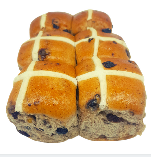 Hot Cross Buns 6pk - Sol Breads (Easter Only) *Please order by Saturday for delivery following week