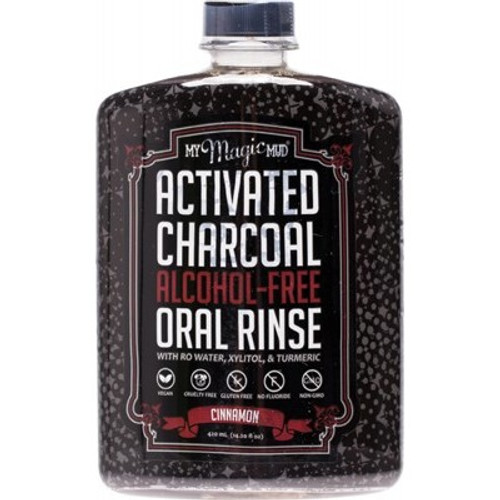 Oral Rinse Activated Charcoal Cinnamon Alcohol Free - My Magic Mud