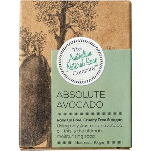 Absolute Avocado Face Soap Bar 100g - The Australian Natural Soap Company