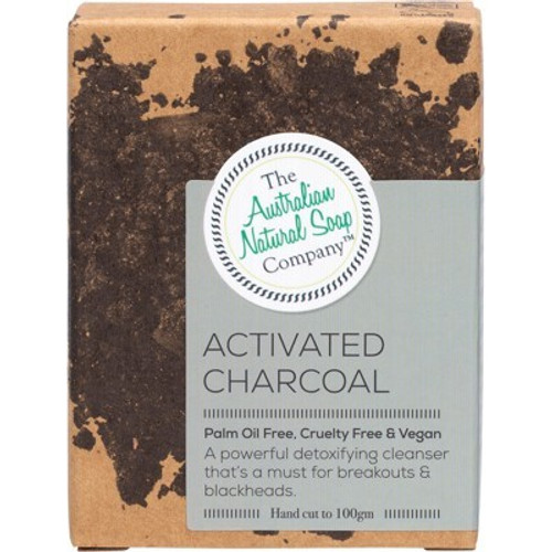 Activated Charcoal  Face Soap Bar 100g - The Australian Natural Soap Company