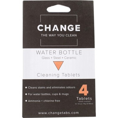 Cleaning Tablets Water Bottle 4pack - Change