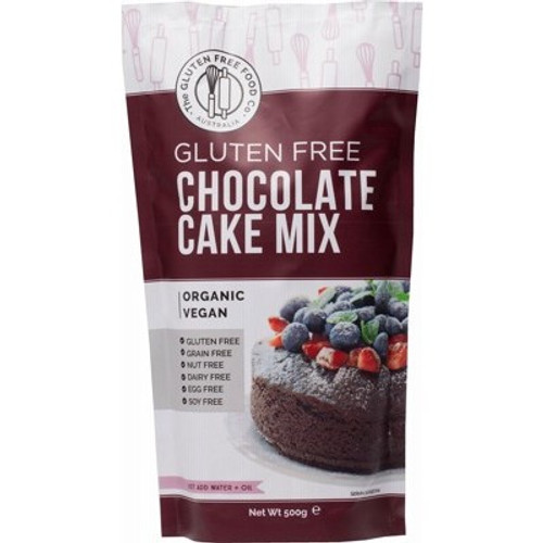 Chocolate Cake Mix Gluten Free Organic 500g - The Gluten Free Food Co