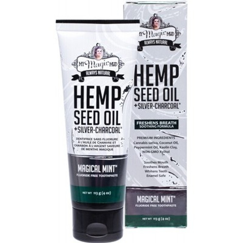 Toothpaste Silver Charcoal & Hemp Seed Oil Magical Mint 113g - My Magic Mud