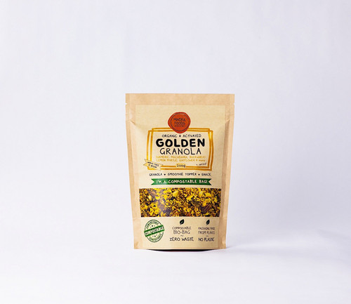 Golden Granola Activated Raw Organic 200G Bag- Mindful Foods