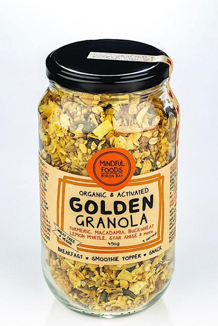 Golden Granola Activated Raw Organic  500g Jar- Mindful Foods