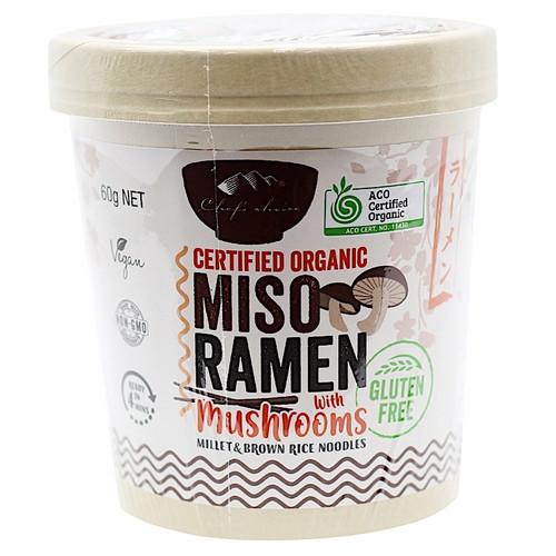 Ramen Miso with Mushrooms Organic Gluten Free 60g - Chefs Choice