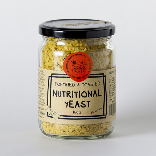 Nutritional Yeast Flakes 100g Jar - Mindful Foods