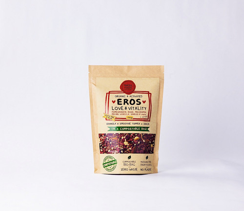 Eros Love & Vitality Granola Activated Raw Organic 200g Bag- Mindful Foods