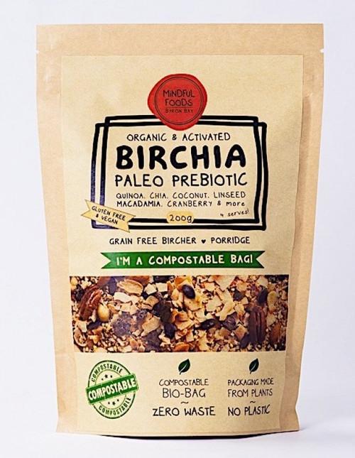 Birchia Paleo Prebiotic Muesli Activated Raw Organic 200G Bag- Mindful Foods