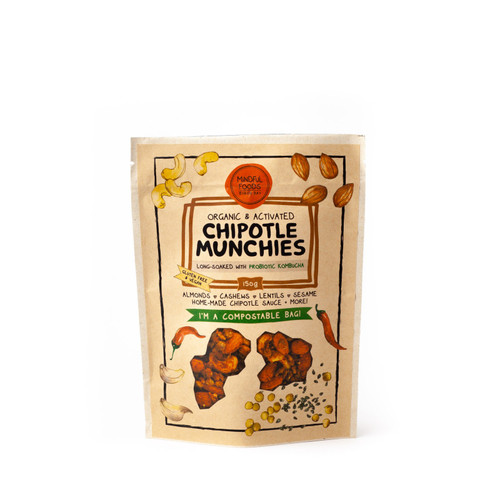 Chipotle Munchies Activated Raw Organic 150g Bag - Mindful Foods