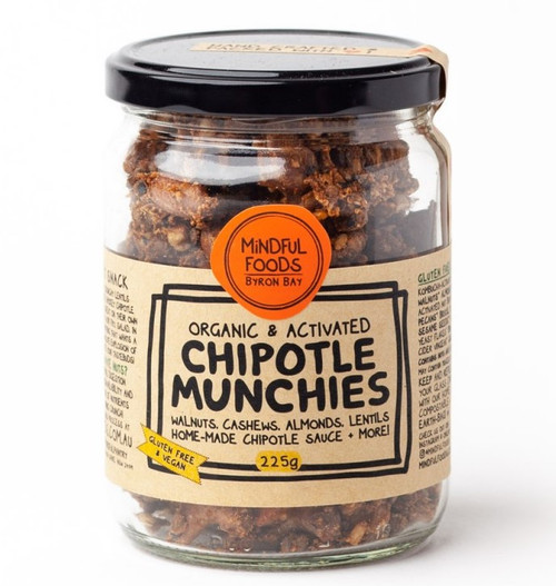 Chipotle Munchies Activated Raw Organic 225g Jar - Mindful Foods