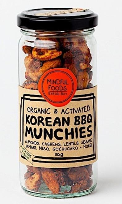 Korean BBQ Munchies Activated Raw Organic 110g Jar - Mindful Foods