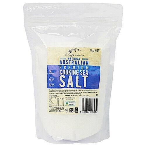 Australian Premium Cooking Salt (sea salt) 1kg - Chefs Choice