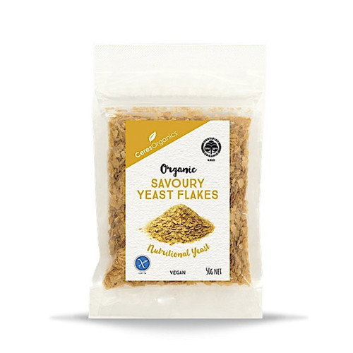 Savoury Yeast Flakes (Nutritional Yeast) Organic 50g - Ceres Organic