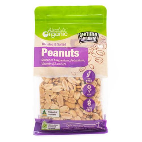 Peanuts Roasted & Salted Organic 250g - Absolute Organic