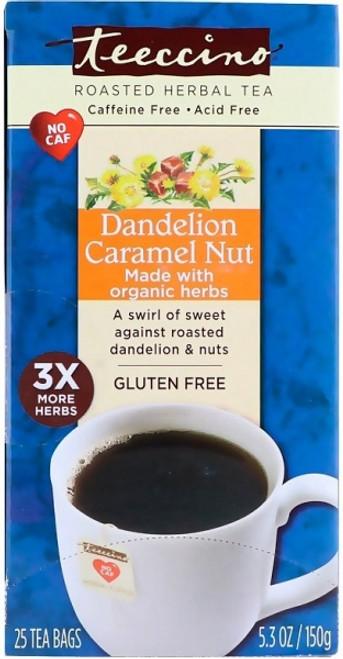 Herbal Coffee/Tea Dandelion Caramel Nut 25 Bags (Big Box) - Teeccino