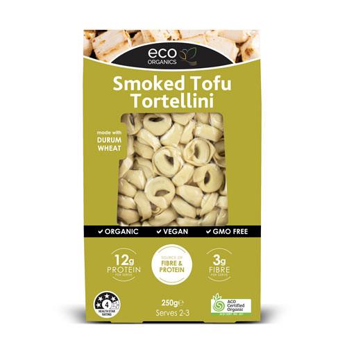 Tortellini Pasta Smoked Tofu Vegan Organic 250g - Eco Organics