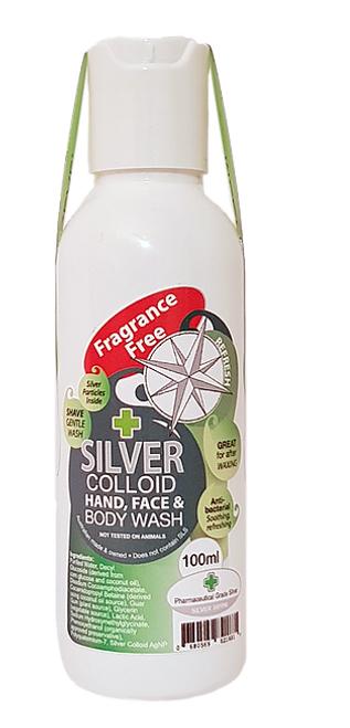 Body Wash Silver Colloid Fragrance Free 100ml - Silver Health