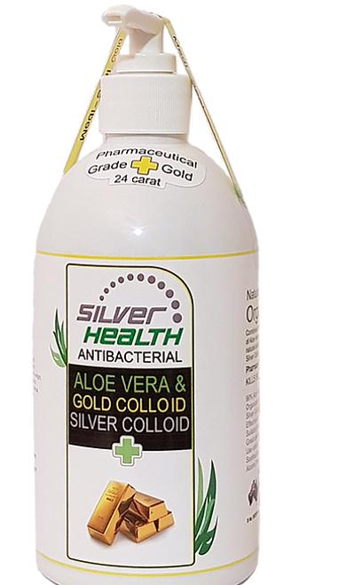 Aloe Vera Gel Organic Gold and Silver Colloid 250ml - Silver Health