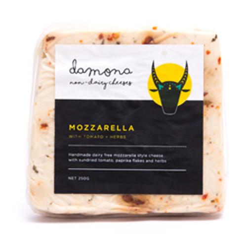 Mozzarella Tomato & Herbs Dairy Free Vegan 250g - Damona