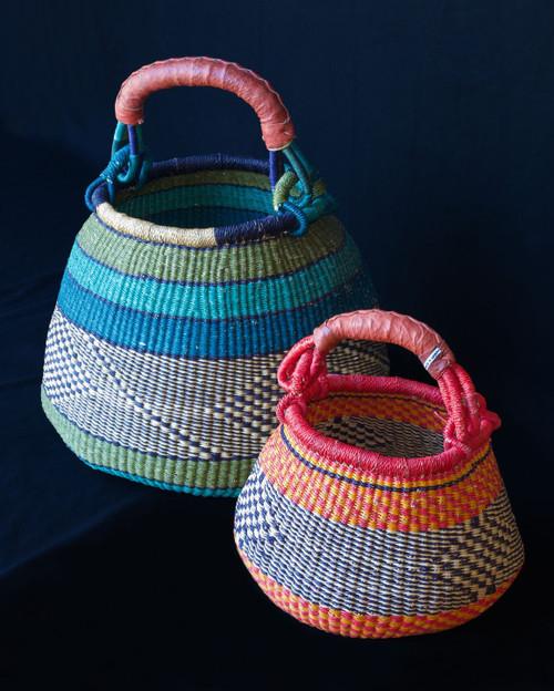 African Basket - Pot Basket Mini One Handle Coloured