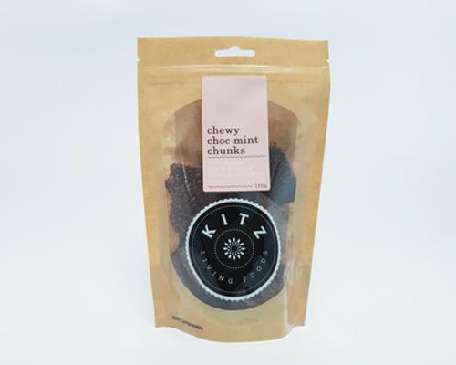 Chewy Choc Mint Chunks Organic 150g - Kitz