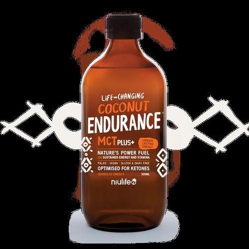 MCT Oil (Coconut) Plus+ Endurance Organic 500ml - Niulife
