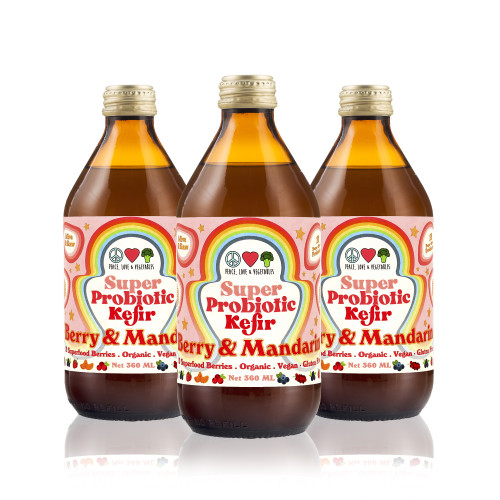 Kefir  Super Probiotic Berry & Mandarin Kefir Organic 360ml - Peace Love Veges