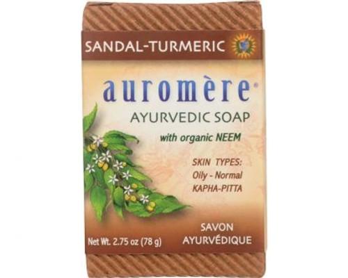 Sandalwood Turmeric Ayurvedic Soap Bar 78g - Auromere