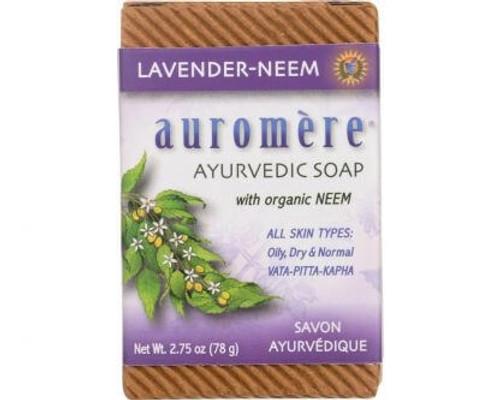 Lavender-Neem Ayurvedic Soap Bar 78g - Auromere
